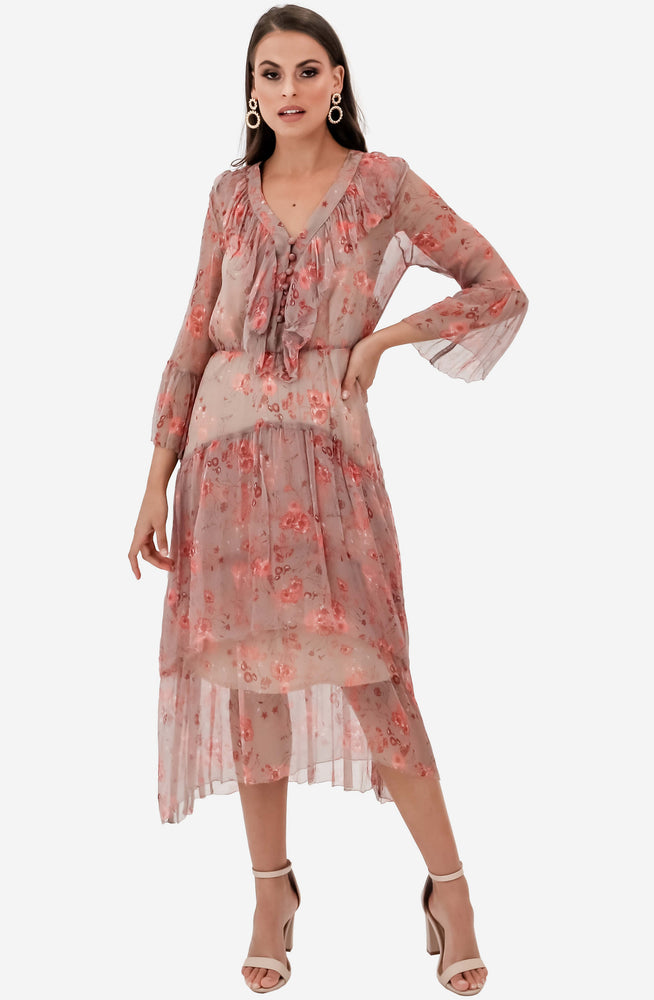 Lorelai Flounce Midi Dress by We Are Kindred