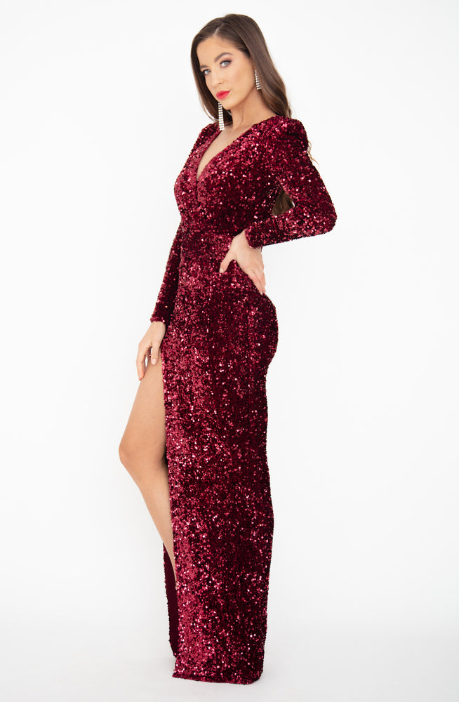 Fire Fox Sequin Gown