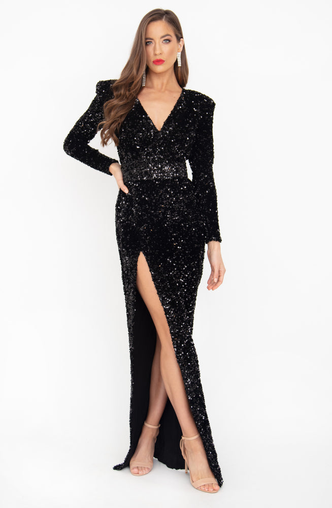 Vixen Sequin Gown by HSH