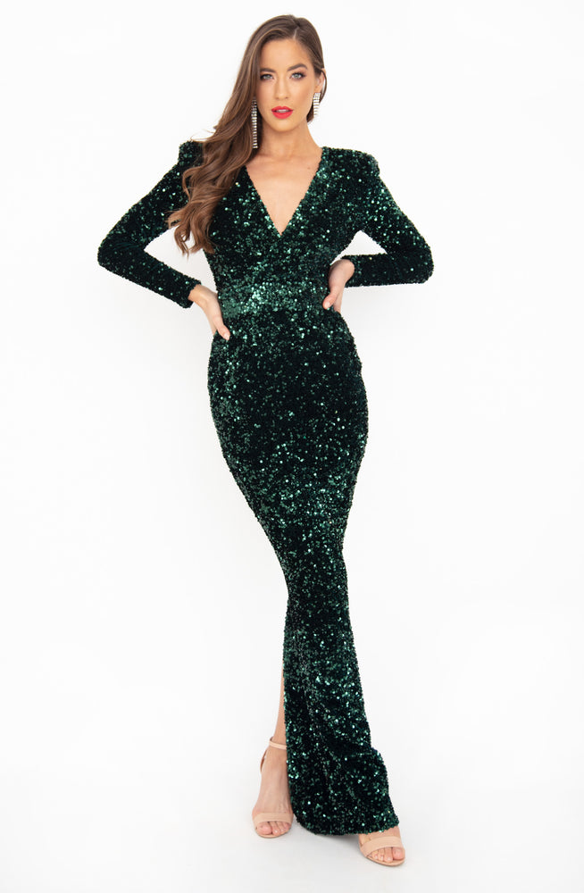 Juliet Sequin Gown by HSH