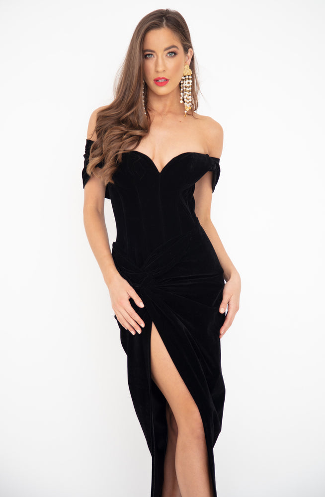 Midnight Velvet Gown