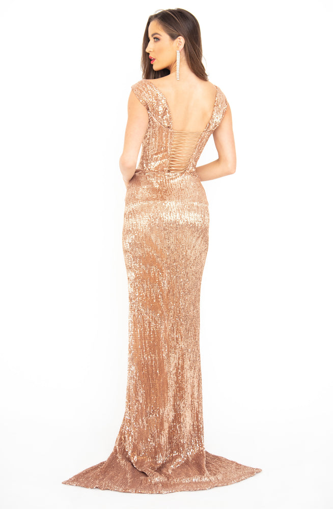 Golden Majestic Gown by HSH