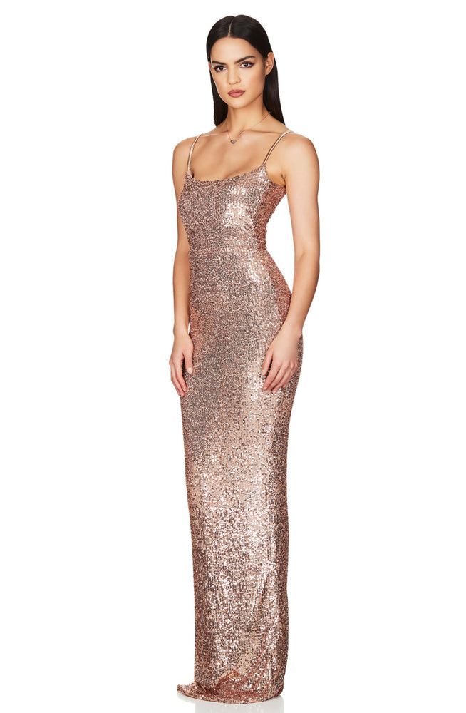 Lovers Rose Gold Gown by Nookie