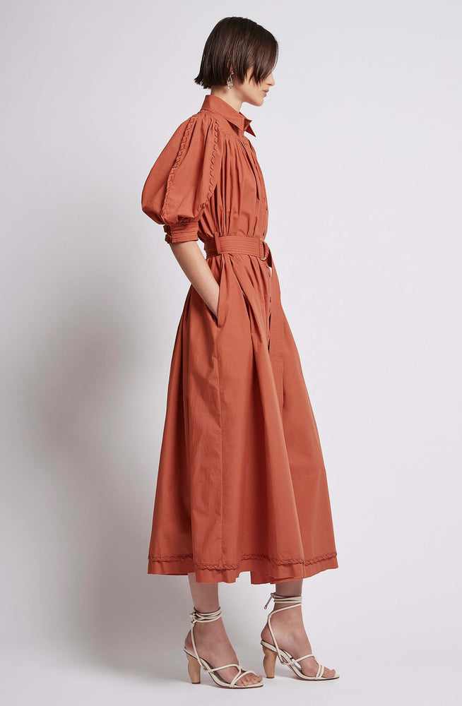 Manifest Dress in Rust by Aje