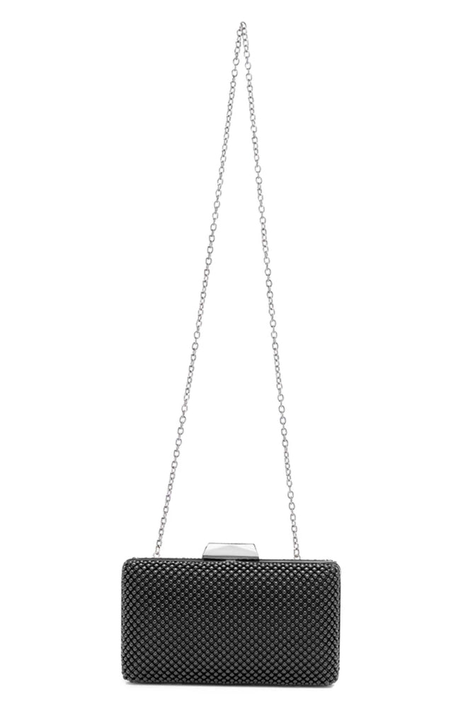 Natasha Black Ball Mesh Clutch by Olga Berg