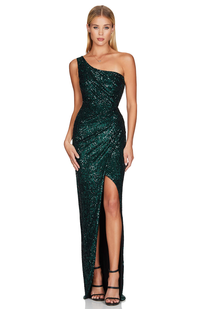 Palazzo Emerald Gown by Nookie