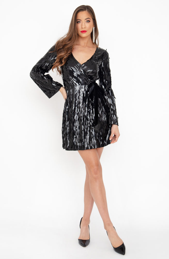 Lilika Mini Black Dress by Rachel Gilbert