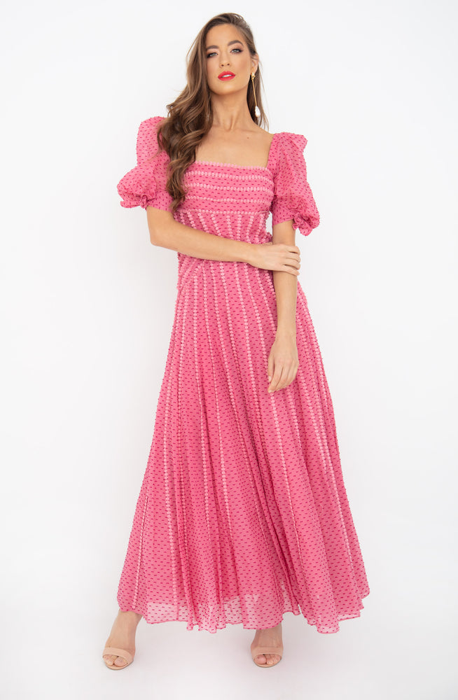 Loni Maxi Salmon Dress by Rachel Gilbert