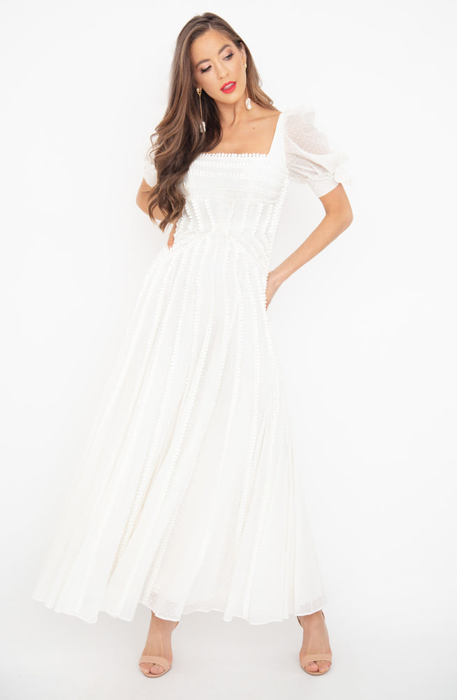 Loni Maxi Ivory Dress by Rachel Gilbert