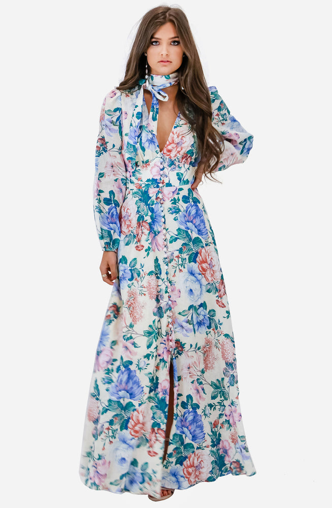 Verity Plunge Long Dress by Zimmermann