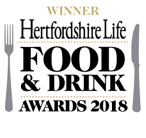 Hertfordshire Life Food and Drink Awards 2018 WINNER