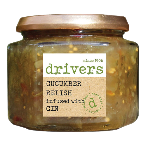 Driver's Cucumber Relish Infused with Gin 350g