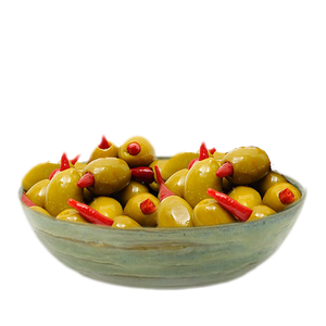 Green Olives stuffed with Piri Piri