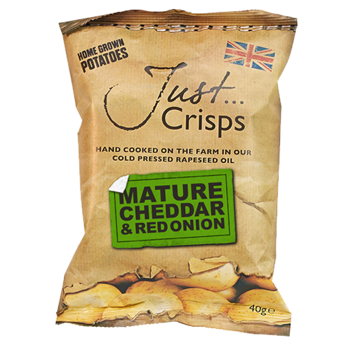 Just Crisps Mature Cheddar & Red Onion Crisps - 40g