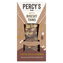 Load image into Gallery viewer, Percy's Chocolate & Almond Biscuit Thins