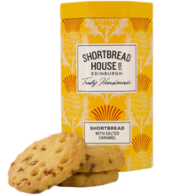 Load image into Gallery viewer, Shortbread House Gift Tin Salted Caramel 140g