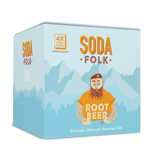 Soda Folk Root Beer 4 Pack