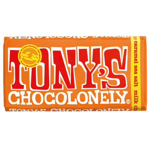 Tony's Chocolonely Milk Chocolate, Caramel & Sea Salt Bar (180g)