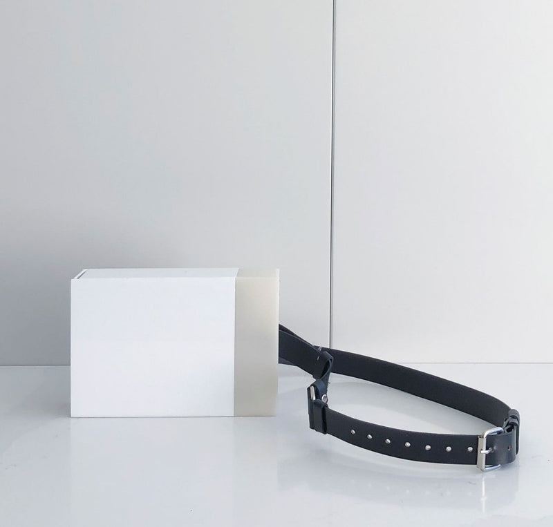 White Acrylic Belt Bag