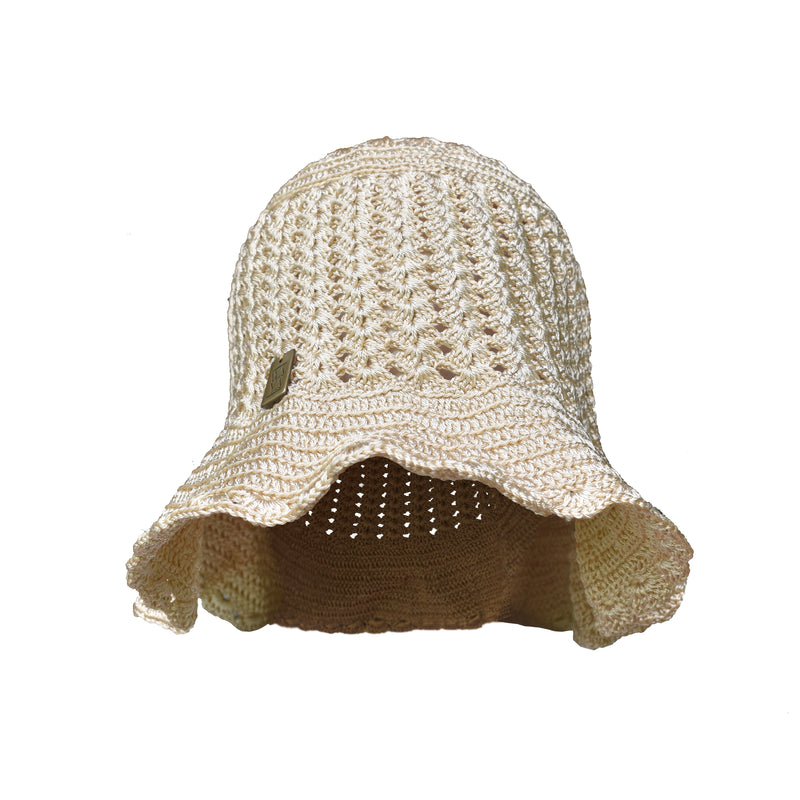 Handmade Bucket Hat Beige/Gold