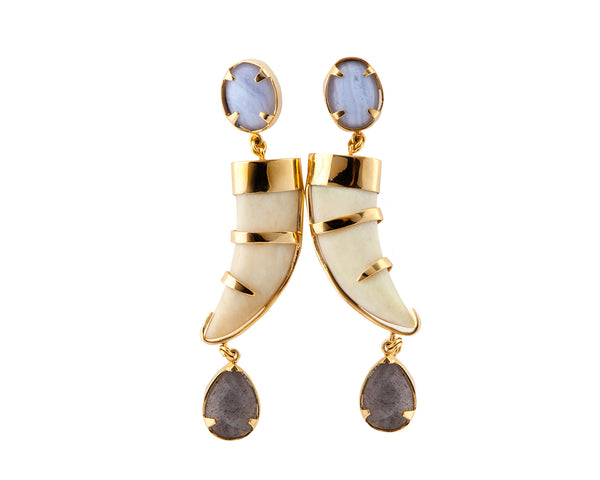 Cacho Tallado 3 Piece Earrings