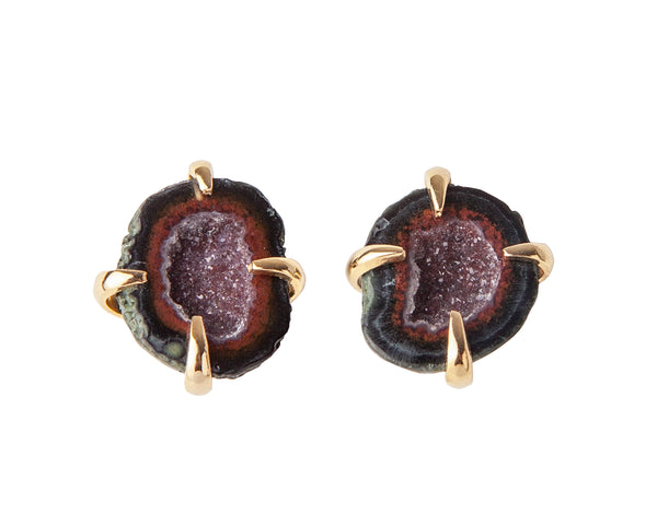 Tabasco Studs Geodas - Red