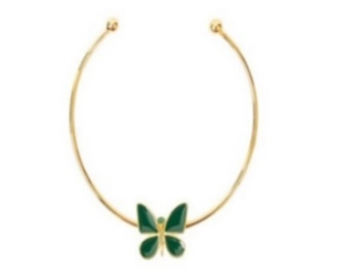 Butterfly Effect Green Necklace