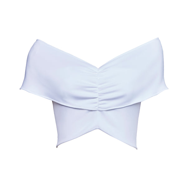 White Agnes Crop Top