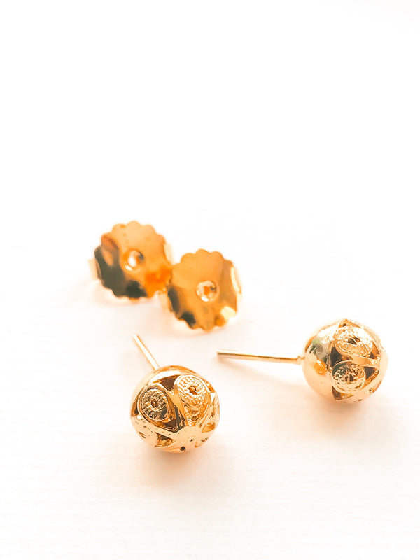 Sphere Studs Gold