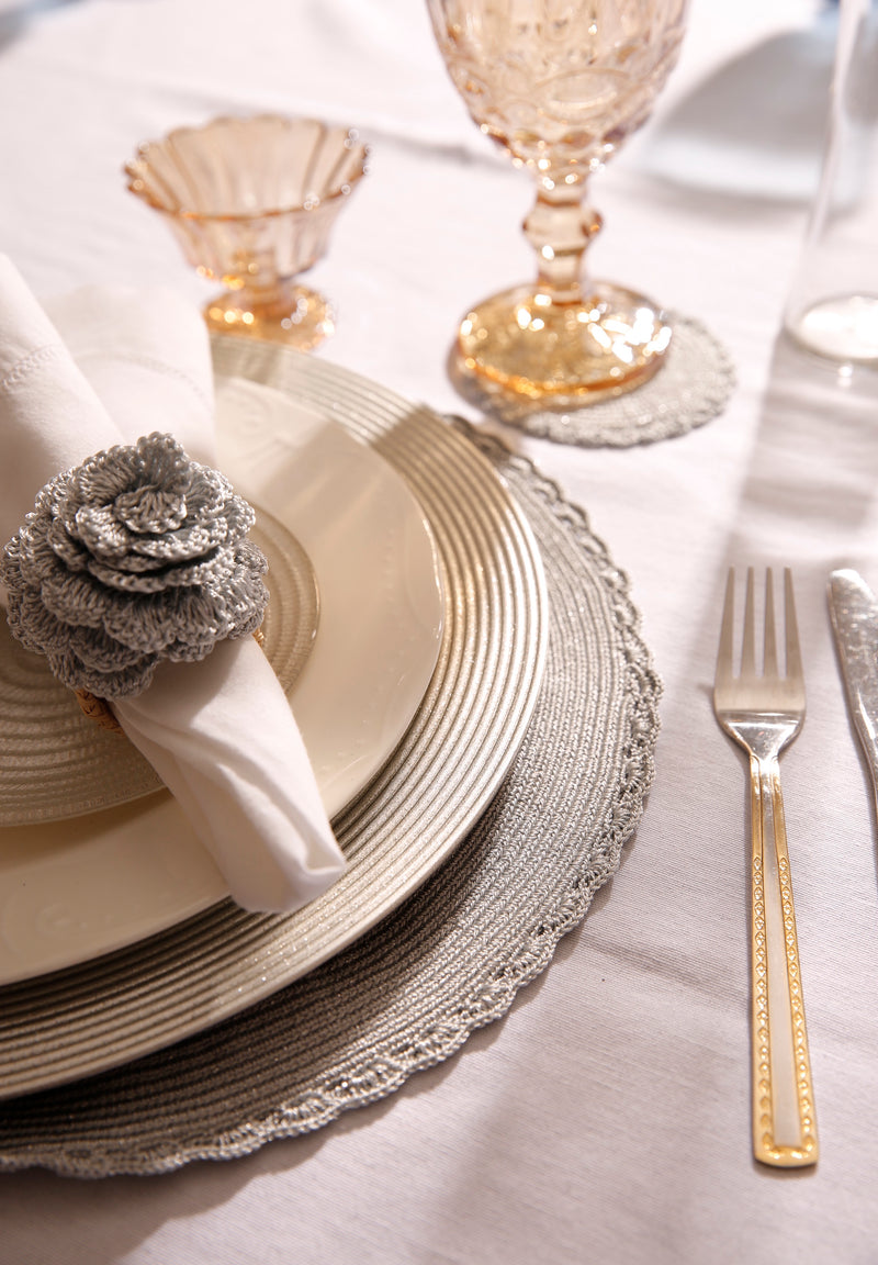 Silver Handmade Placemat (Set of 4)
