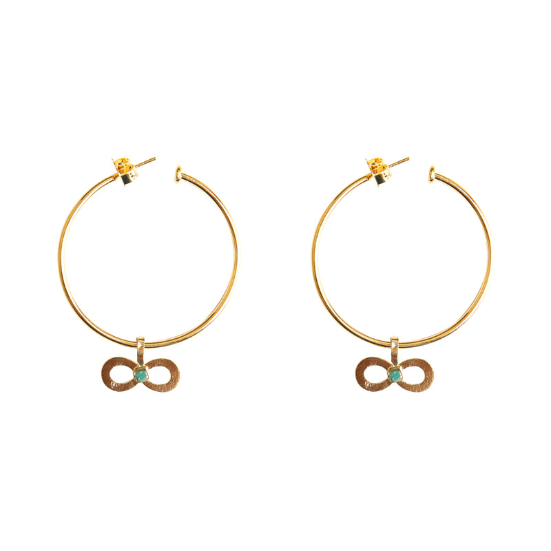 Simple Pendant Infinite Earrings