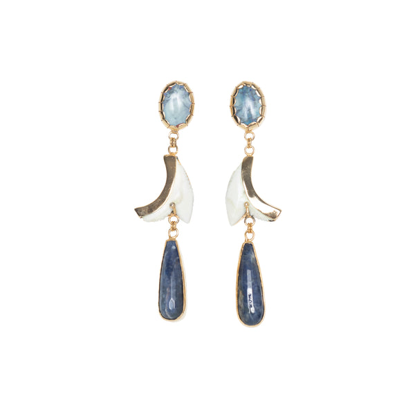 Sodalite Shark 3 Piece Earrings