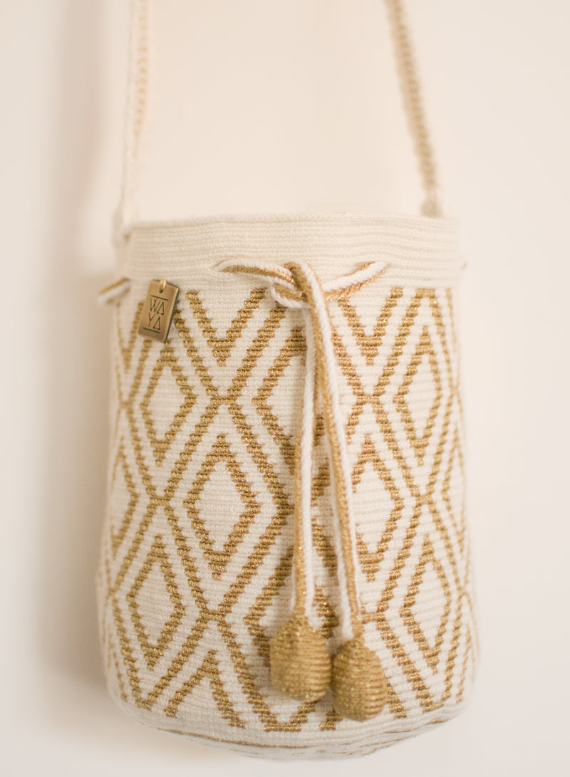 Estela Bag gold off-white