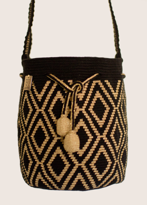 Estela Small Bag black/gold
