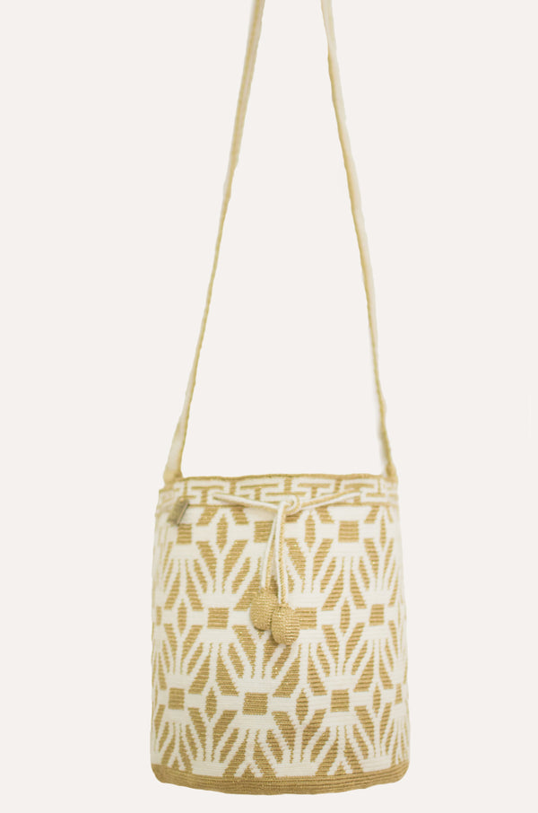 Majayura Medium Premium Bag gold - off white