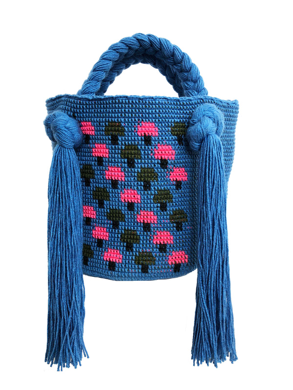 Blue Mushroom Mini Bag