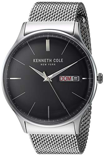 Kenneth Cole New York Men's Classic Japanese-Quartz Stainless-Steel Strap, Silver, 21.5 Casual Watch (Model: KC50589005)
