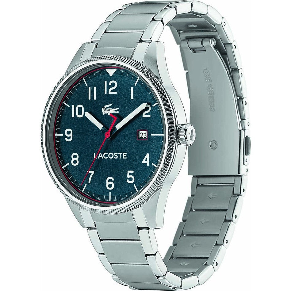 Lacoste Men's Continental Casual Watch Silver Stainless Steel Bracelet 2011022