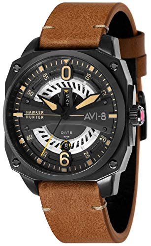 AVI-8 Mens Hawker Hunter Watch - Brown/Black