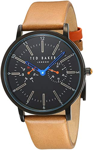 Ted Baker Men's Classic 40mm Leather Band Steel Case Quartz Watch TE50534004