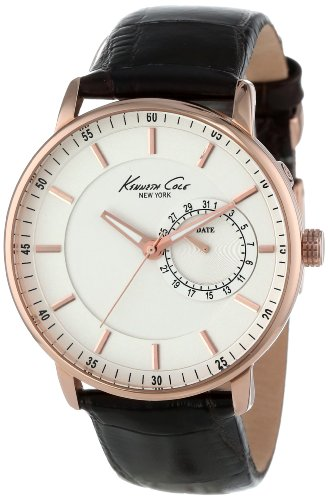 Kenneth Cole New York Men's KC1780 Classic Silver Analog Dial Rose Gold Case Watch