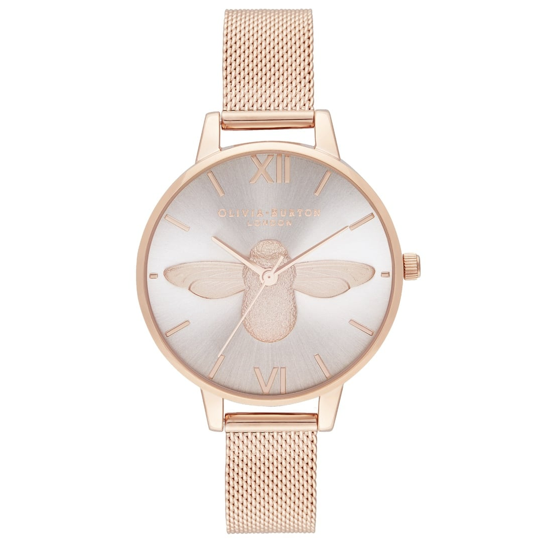 Olivia Burton Ladies Demi Blush Dial & Rose Gold Mesh watch OB16AM161