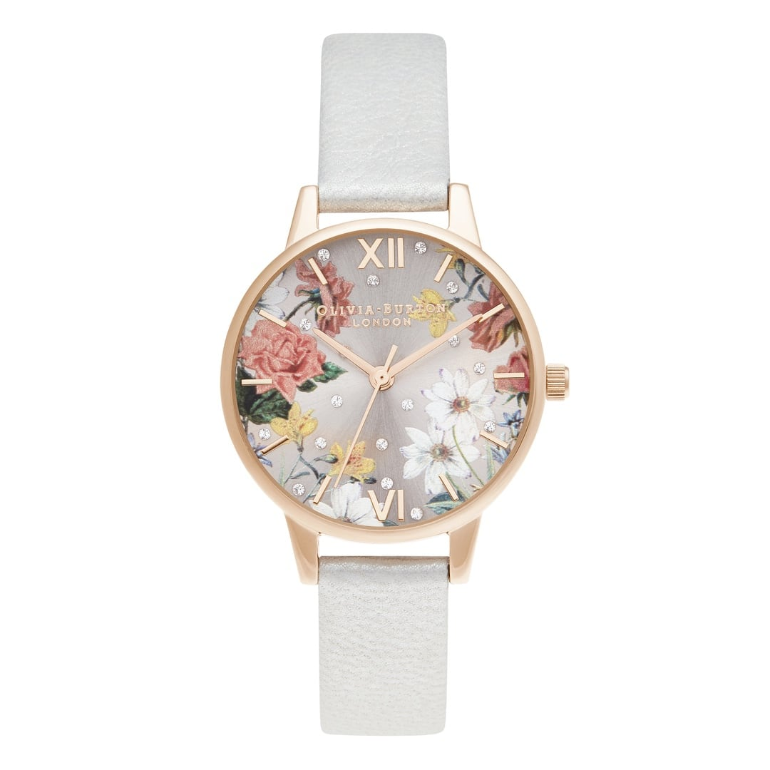 Olivia Burton Ladies Midi Shimmer Pearl & Pale Rose Gold Watches OB16BF29