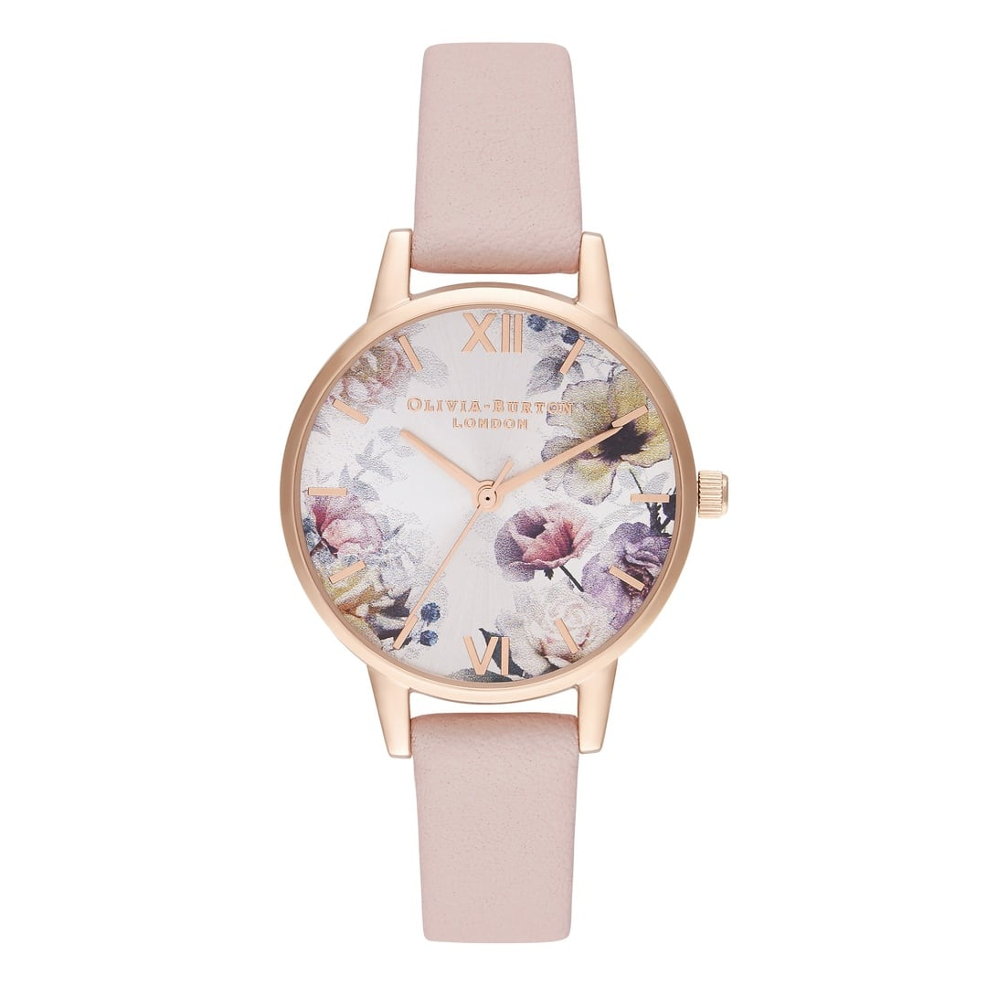 Olivia Burton Ladies Sunlight Florals Pink Rose Gold Watch OB16EG115
