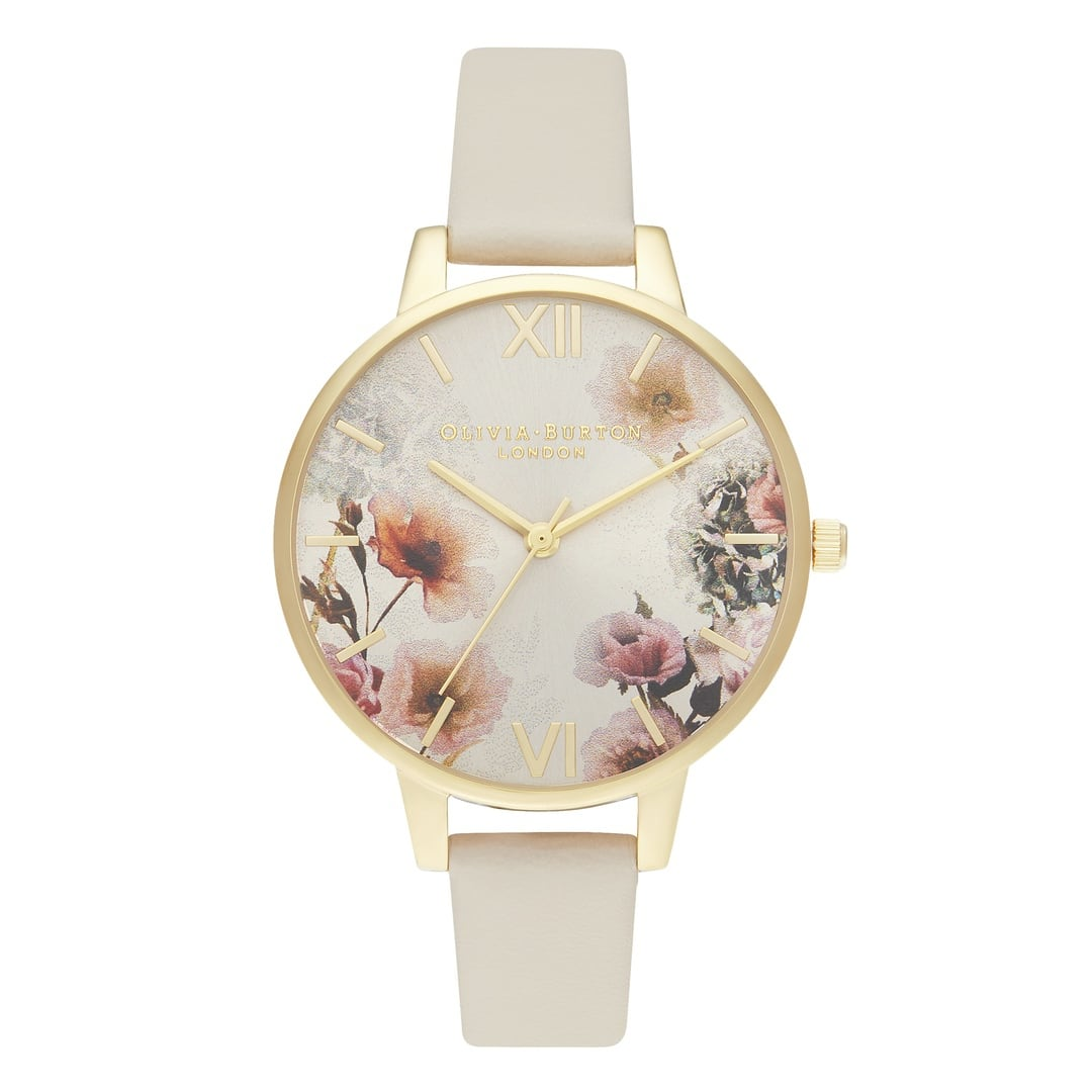 Olivia Burton Ladies Sunlight Florals with Vegan Nude Strap Gold Watch OB16EG118