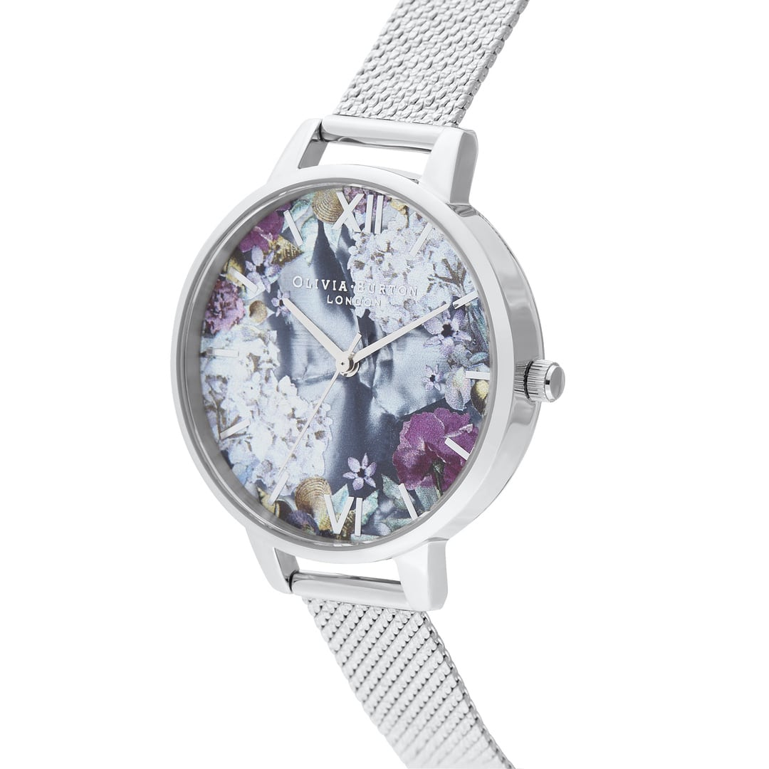 Olivia Burton Ladies Under The Sea Mother of Pearl & Mesh Boucle Silver Watch OB16US11