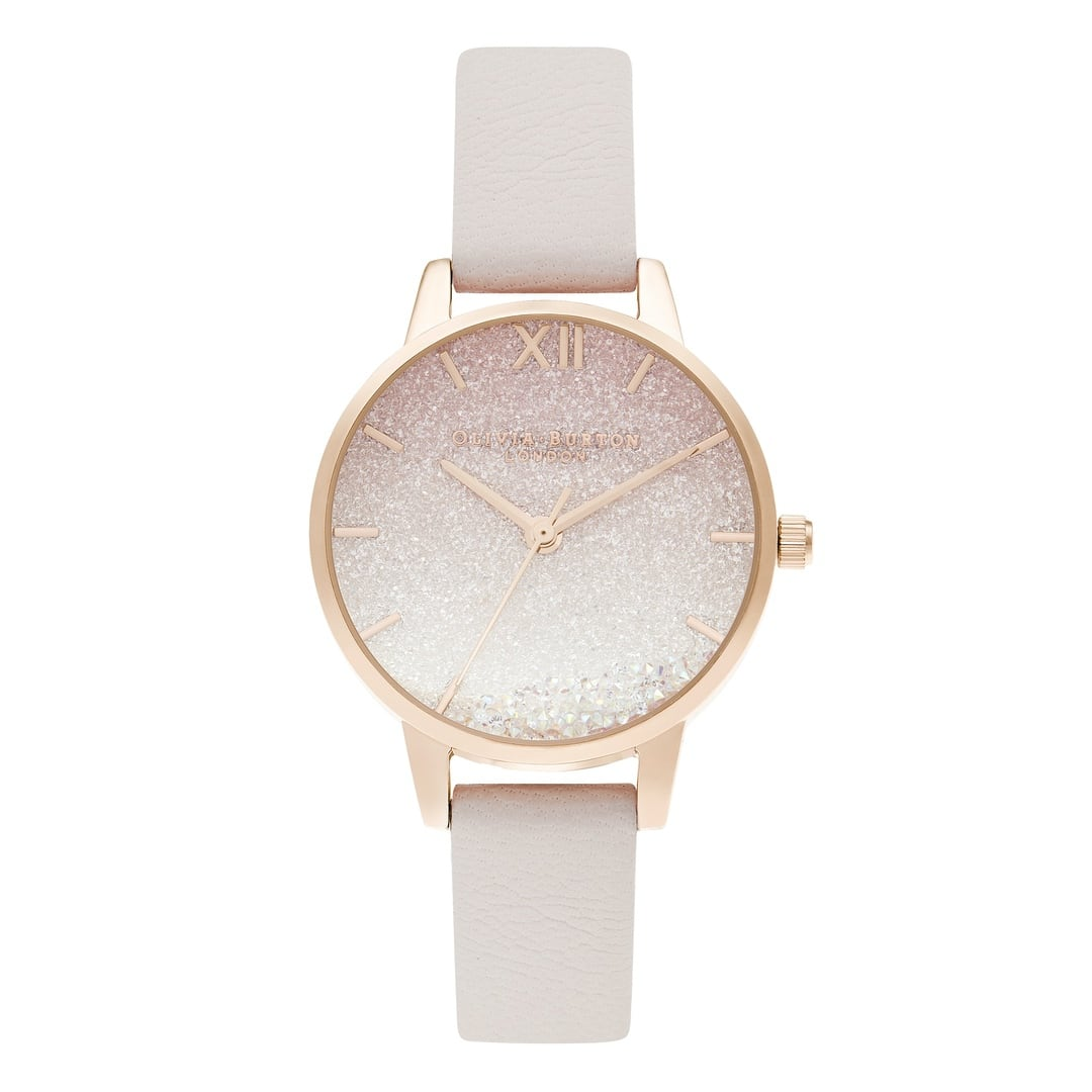 Olivia Burton Ladies Swarovski Sunrise with Wishing Pearl Strap Rose Gold Watch OB16US57