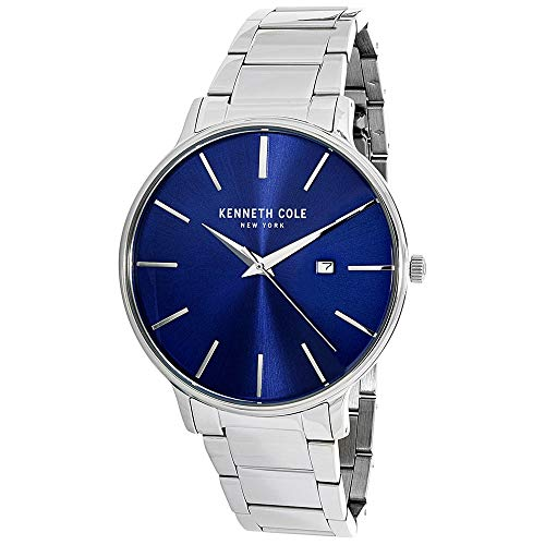 Kenneth Cole Men's 3 Hands Date at 3 Classic Blue Dial Band Watch (Model: KC15059003)