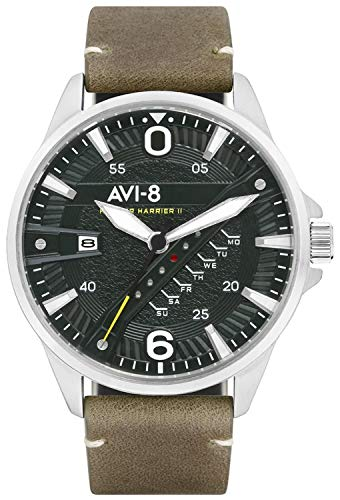 Hawker Harrier Mens Analogue Japanese-Quartz Watch with Calfskin Bracelet AV-4055-03