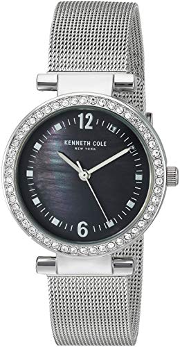 Kenneth Cole New York Women's Classic Analog-Quartz Watch with Stainless-Steel Strap, Silver, 15.8 (Model: KC50740003